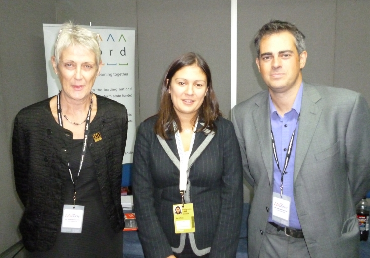 Alice Robinson – the National President of the Association of Teachers and Lectures and Lisa Nandy MP, with Jonathan Bartley of the Christian Think Tank Ekklesia and Accord Coalition Steering Group