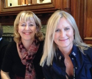 Writer and campaigner, Melissa Benn, with education campaigner, Fiona Millar.