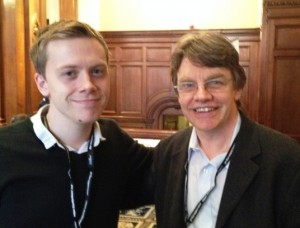 Author and political commentator, Owen Jones, with Accord Coalition Steering Group member and co-Director of the Christian think tank Ekklesia, Simon Barrow.