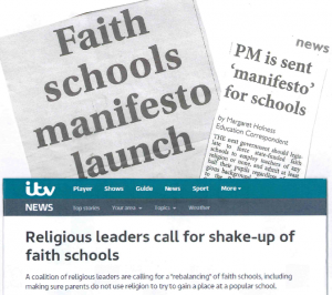Manifesto for faith schools in the media spotlight